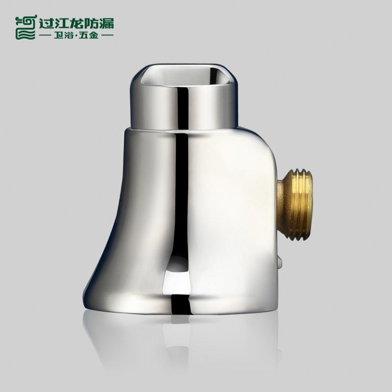 過江龍衛浴J019全銅主體短款4分冷熱馬桶熱水器龍頭小魔套角閥