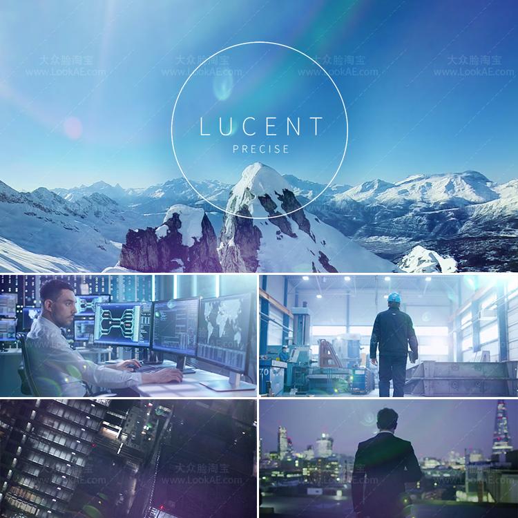 视频素材-110个时尚优雅蓝色调镜头逆光光晕炫光叠加4K视频素材