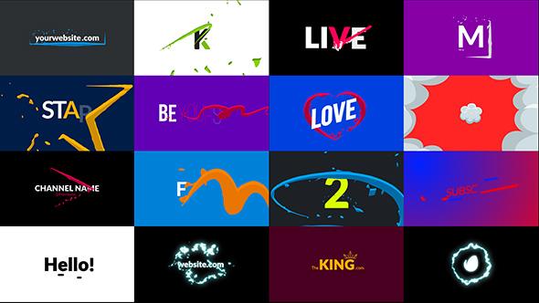 AE脚本+模板-165种能量电流发光线条LOGO文字MG运动图形元素动画插图7
