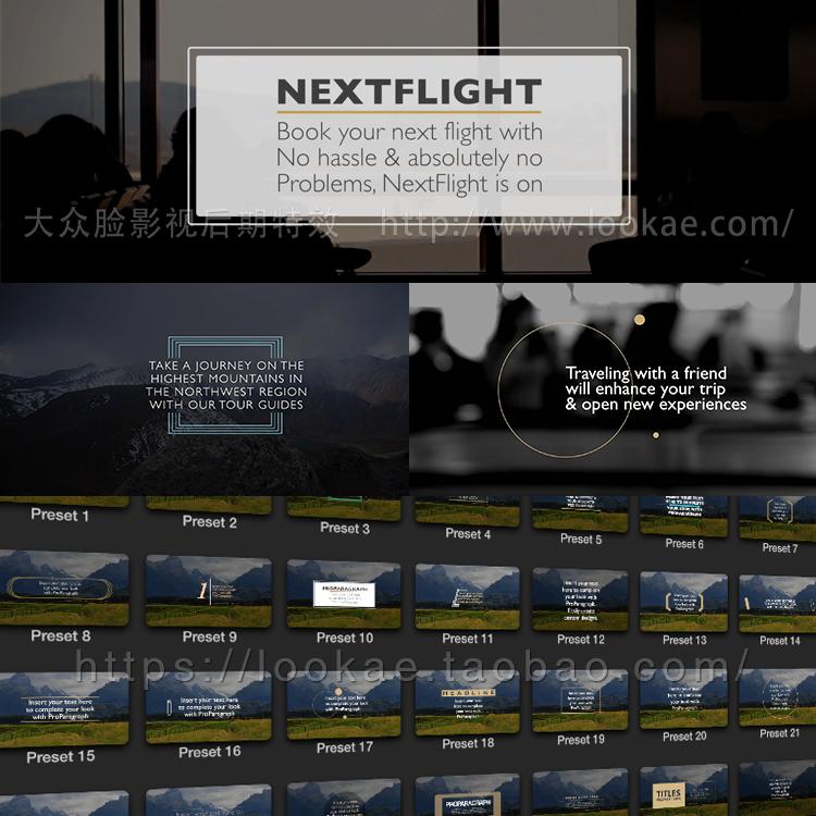 FCPX插件:30种商务企业文字标题动画 ProParagraph FCPX 插件-第2张