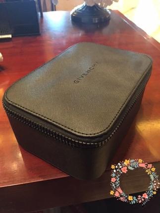 包邮大牌专柜赠品高级定制十字纹黑色化妆箱/包附化妆镜收纳盒硬