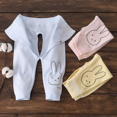 0-3-6个月新生婴儿开裆裤纯棉单条开档裤子 春秋男女宝宝打底秋裤