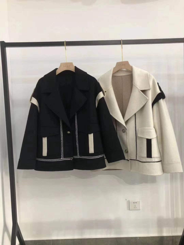 Xiaoxiangfeng áo khoác nữ mùa thu 2019 mới áo khoác cashmere hai mặt nữ ngắn phù hợp với len lỏng Hàn Quốc - Áo Hàn Quốc