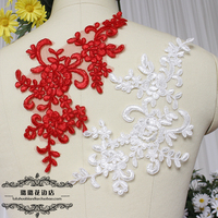 Свадебная вышивка аппликацией на цветок ручная работа DIY новый Niangtou ювелирный материал белый красный черный Кружевные аксессуары для одежды