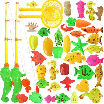 儿童益智钓鱼玩具戏水磁性套装