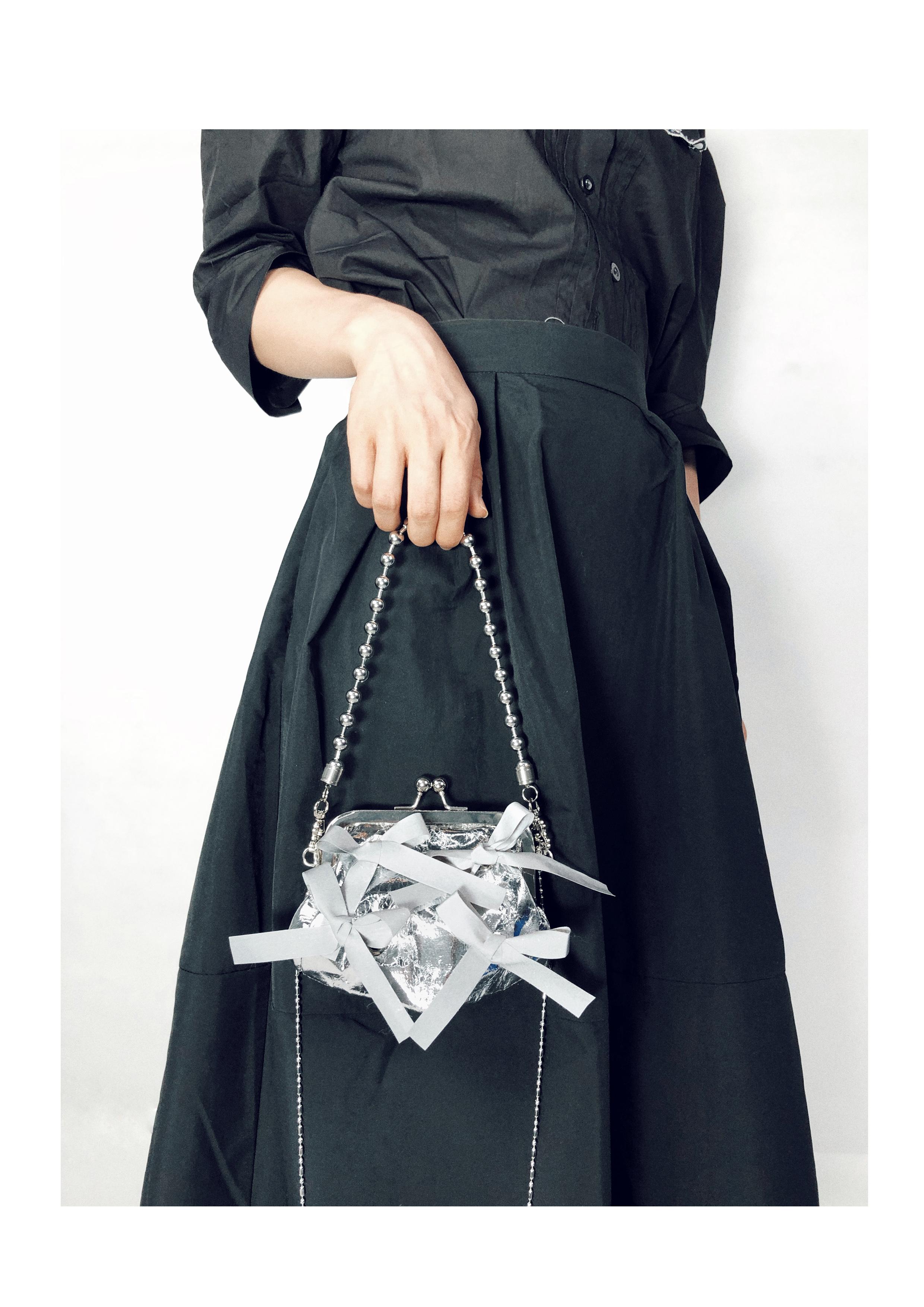 原创设计包包蝴蝶结链条包口金包奔跑吧同款详细照片