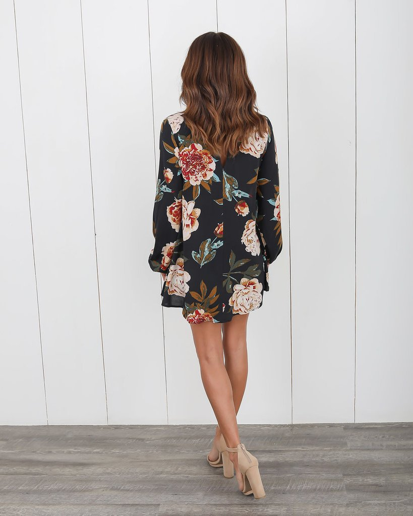 Occident and the United States Polyester printing and dyeing Female dress (Apricot-XL)NHYF1303-Apricot-XL