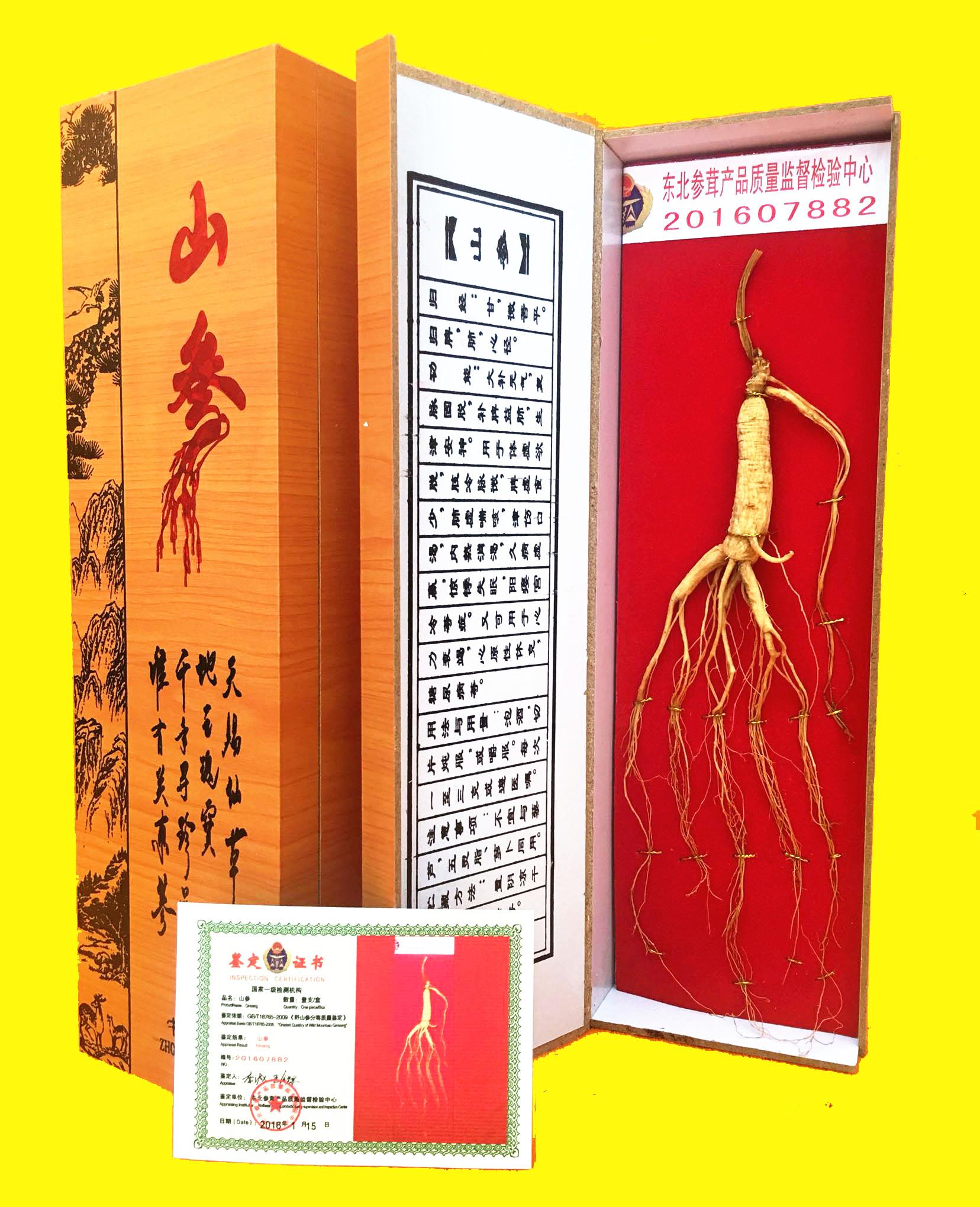 Белоснежный гора человек женьшень подарок к северо-востоку гора женьшень подарок дикий гора женьшень сдвиг завод человек участвовать подарок плюс сертификат 10 юаней