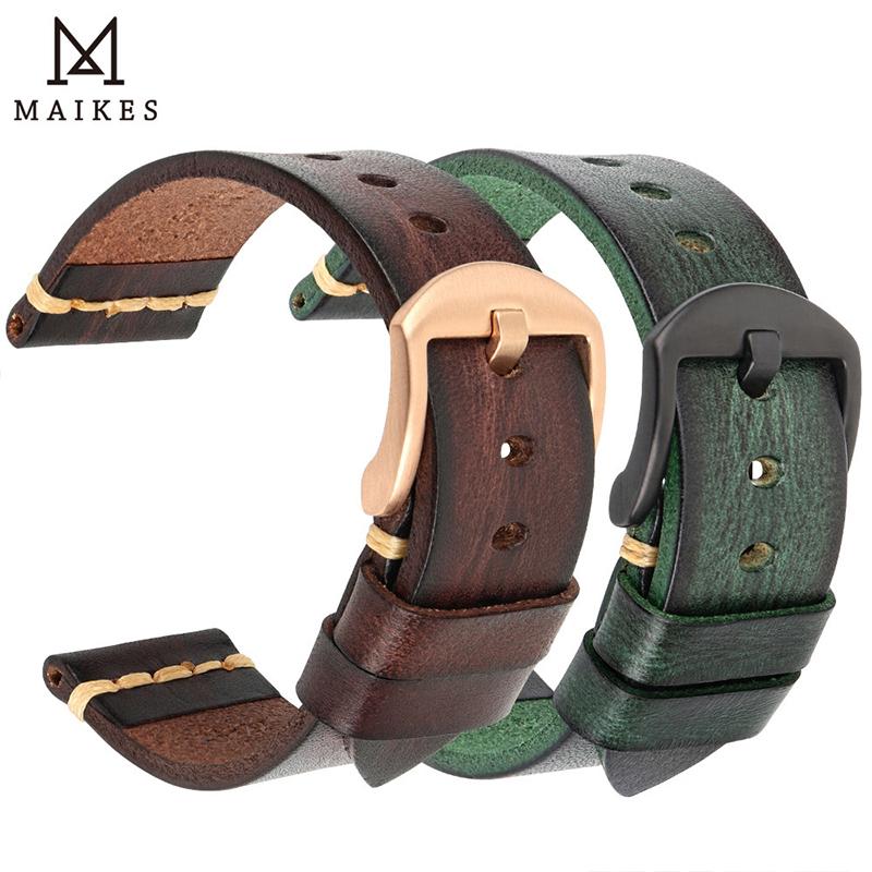 真皮手表带男适用天梭美度卡西欧西铁城华为GT22mm 20mm复古表带