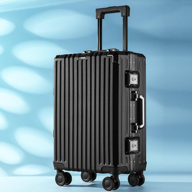 卡帝乐鳄鱼小型铝框拉杆密码旅行箱