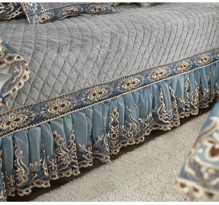 高档欧式加厚毛绒沙发垫简约现代欧式万能套全包沙发罩巾布艺防滑35张