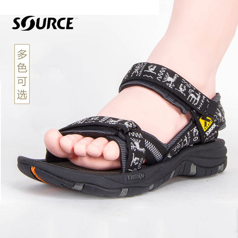 c6915230a17f Mountain outdoor SOURCE 思 si Gobi Gobi men and women mountaineering hiking  non-slip quick-drying wear-resistant sandals