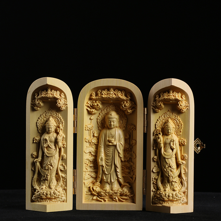 Yueqing boxwood carved car small ornaments home small jewelry