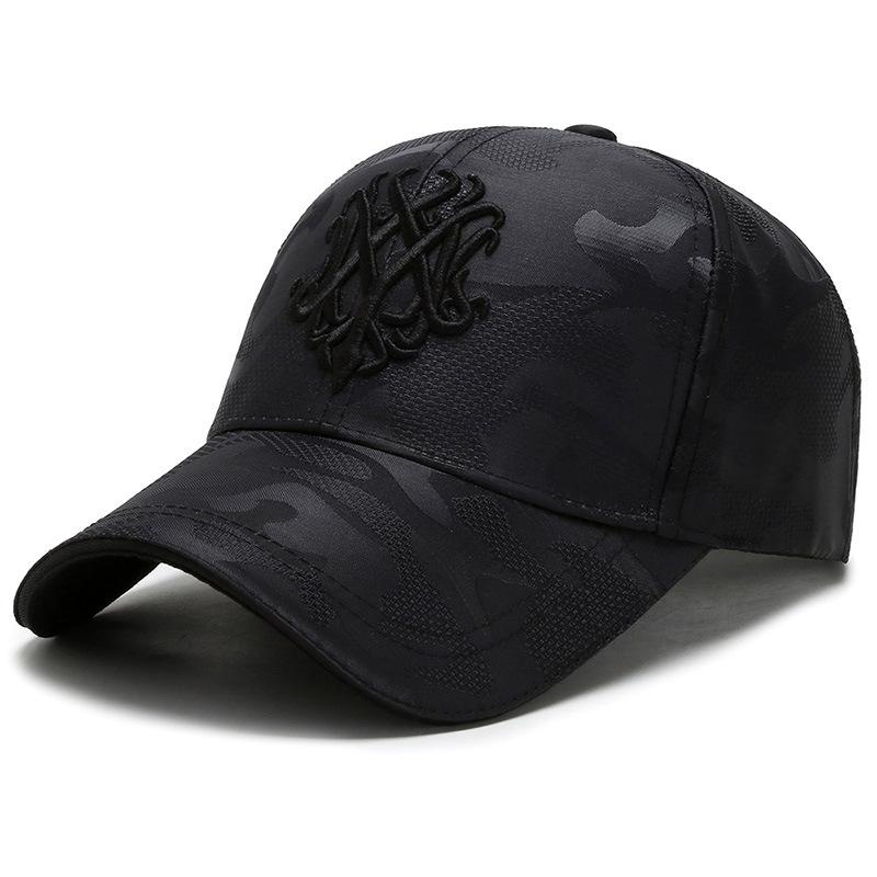 刺绣迷彩帽子男韩版潮时尚休闲遮阳棒球帽潮牌网帽鸭舌帽女士帽夏