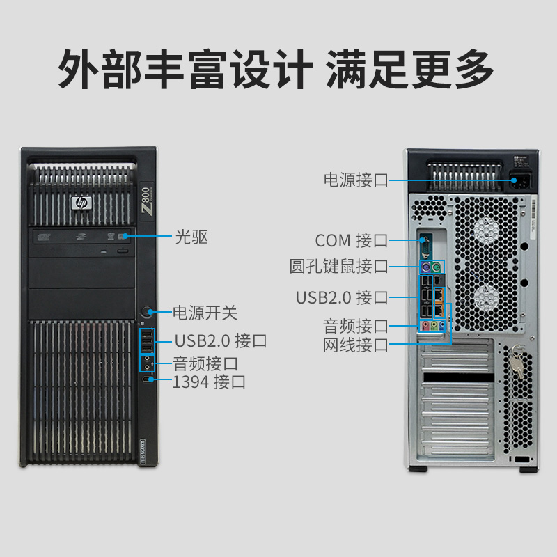 HP/HP Z800 Graphics Workstation to Strong Dual-Channel 5650 Unique Display  24-Core Host Modeling and Rendering Server