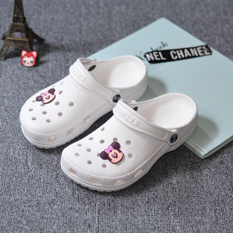 夏季新款洞洞鞋女护士特大拖鞋鞋沙滩鞋40凉鞋码凉白色41-42-43码