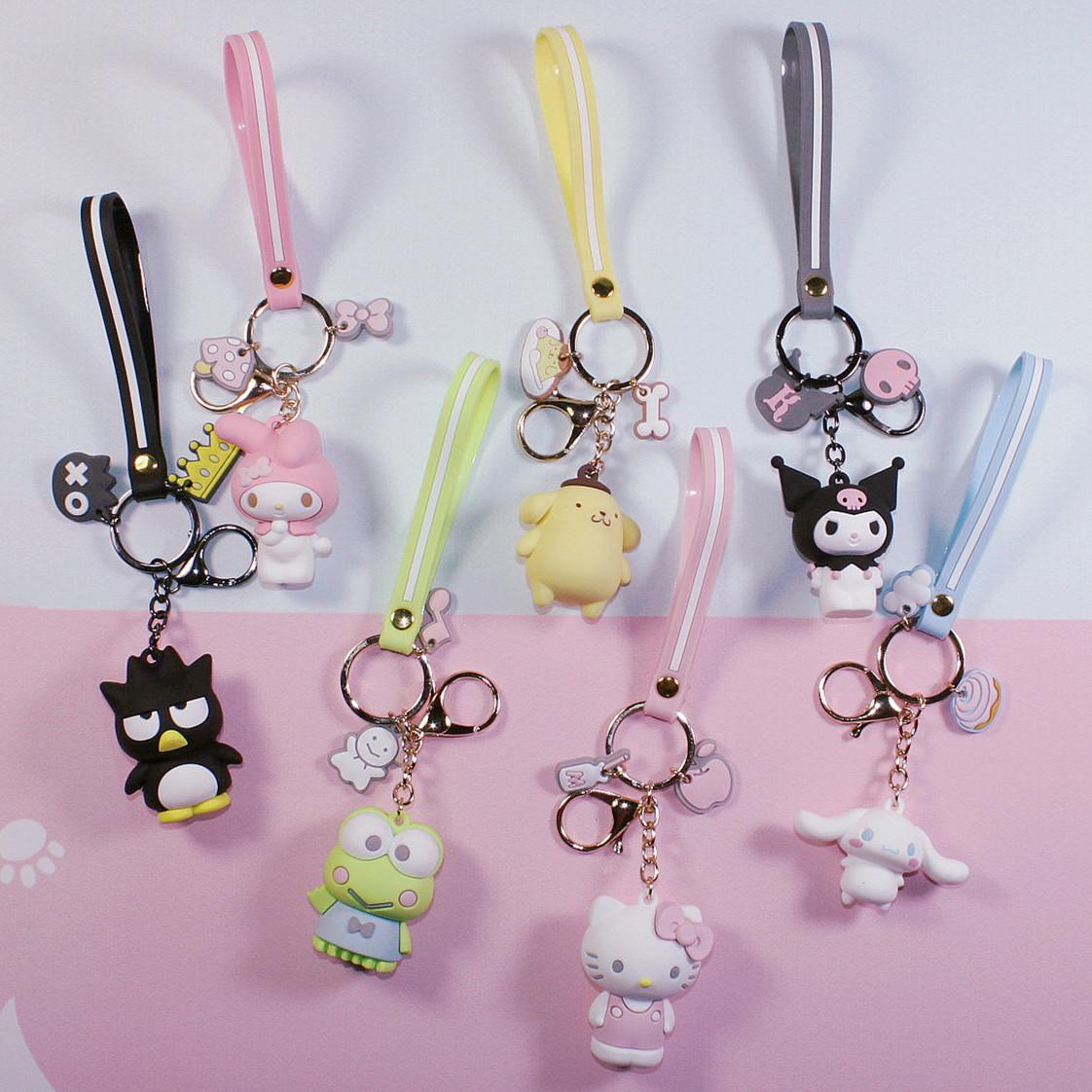 新款Hello Kitty 美乐蒂大耳狗布丁狗可爱钥匙扣日韩女士包包挂件