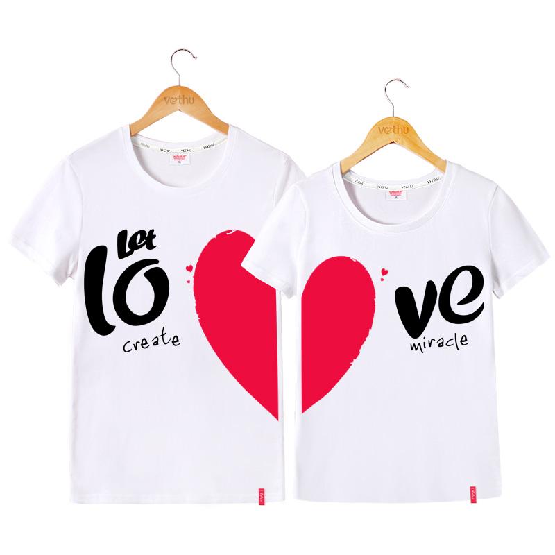 不一样的情侣装短袖t恤,情人节啥狗粮礼物