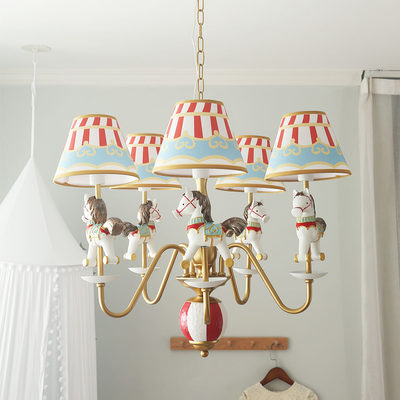 Trojan lamp children's lanterns room soft boy girl princess room bedroom chandelier American lamp lamp lighting