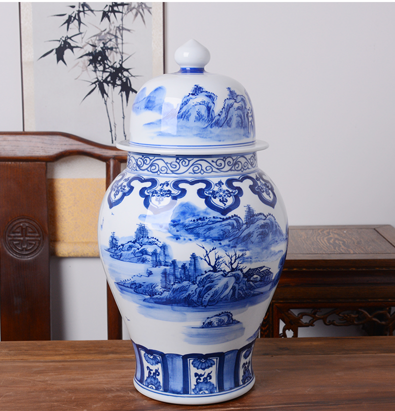 Jingdezhen general hand - made ceramic pot liquor mercifully wine jars 20 jins put an empty cylinder of archaize seal storage tank a winery