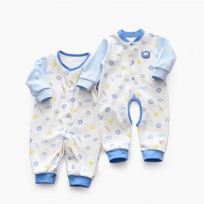 婴儿连体衣春秋宝宝连体睡衣婴幼儿0-3个月衣服男纯棉哈衣爬爬服