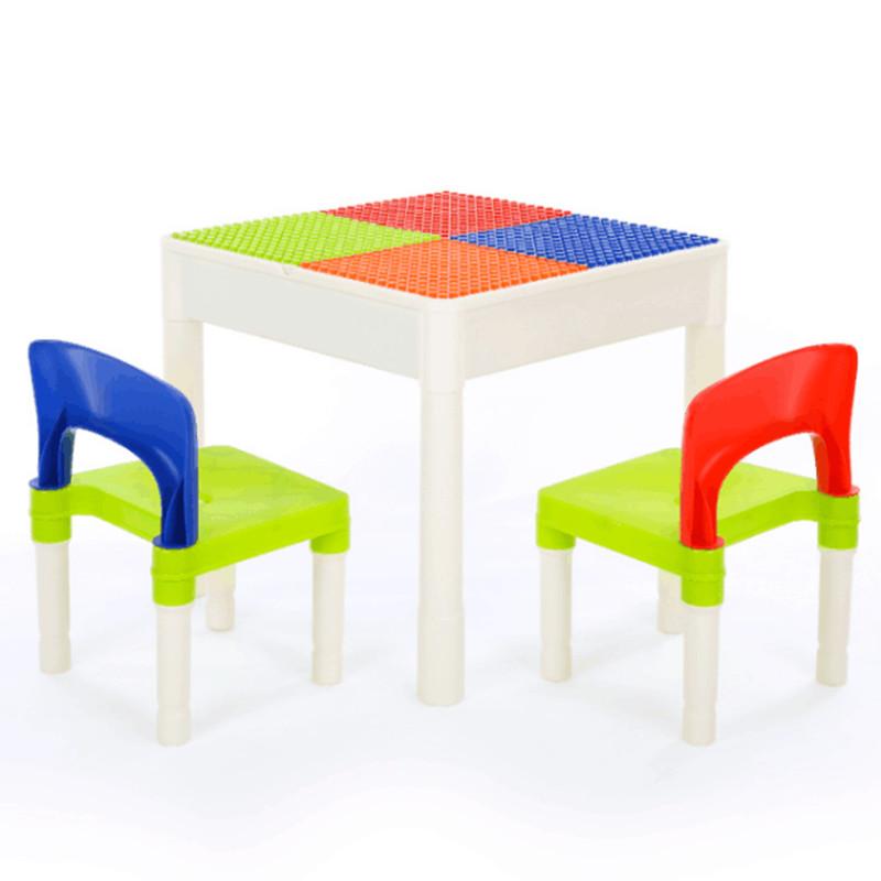 多功能积木桌子男孩子1-2-4-6女孩周岁儿童益智积木拼装玩具legao_天猫超市优惠券