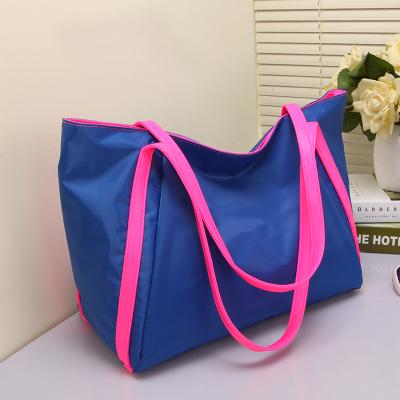 大时尚2019新款潮包包女布包旅行包手提购物袋尼龙包包单肩包