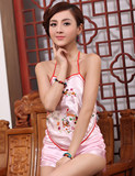 Sexy underwear Chinese national wind strap embroidery red belly poll pajamas ladies sexy adult set of palace costumes