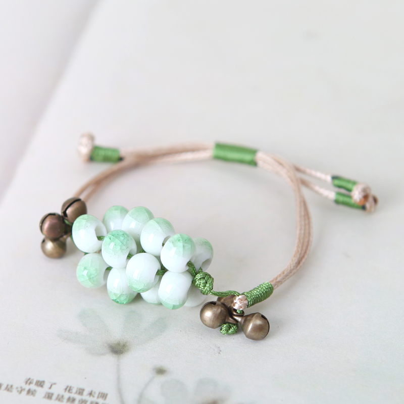 The Original design hand made beads QingGe ceramic beads pendant pendant bag move key national windmill booth in supply