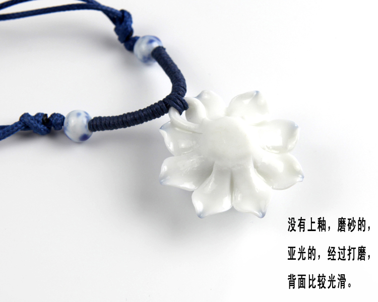 QingGe hand - made by jingdezhen ceramic jewelry necklace lay in valentine 's day roses on supply of goods