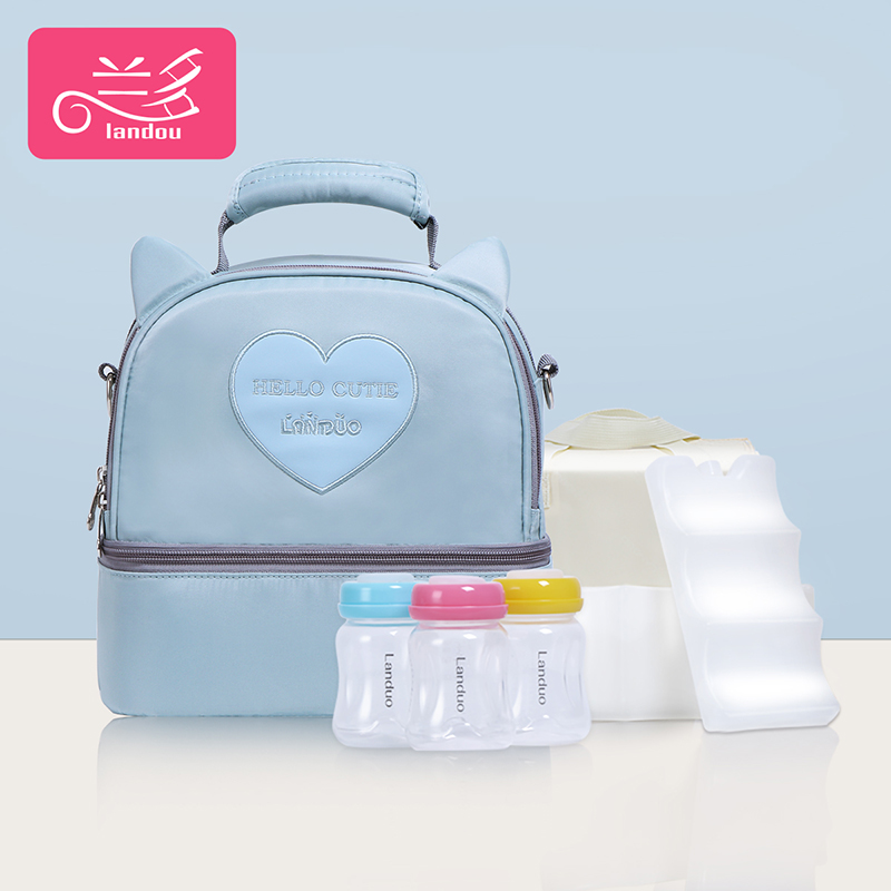 Star Blue [single Bag + Liner Bag + 2 Pieces Of Blue Ice + 3 Pp Milk Cans]