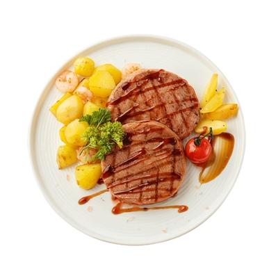 小牛凯西菲力牛排黑椒10片儿童家用套餐牛肉新鲜牛扒商用冷冻包邮