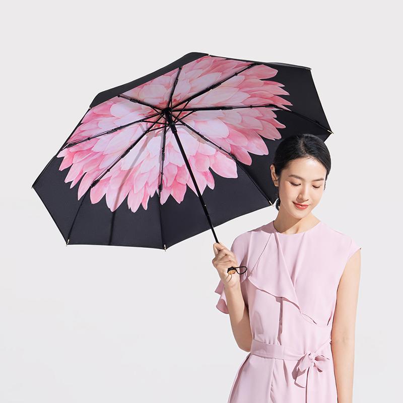 新款蕉下双层小黑伞防晒遮阳太阳伞紫外线阻隔99% UPF50+晴雨两用