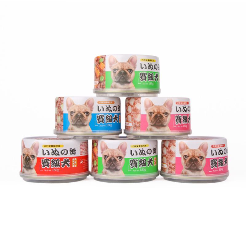 【拍3件】亚禾狗罐头拌饭180g*6罐