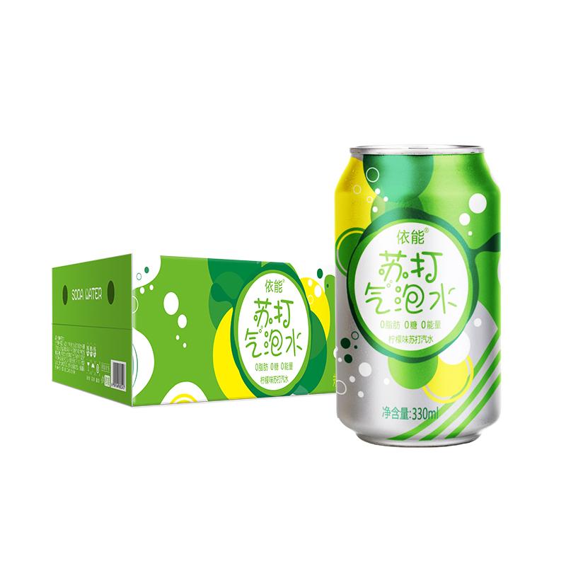 【依能】含汽柠檬苏打汽水330ml×24