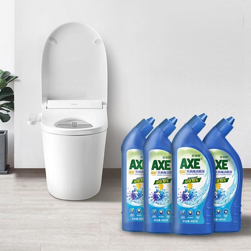 AXE 斧头牌 晶怡 灭病毒洁厕液 480g*4瓶 聚划算双重优惠折后¥24.8包邮