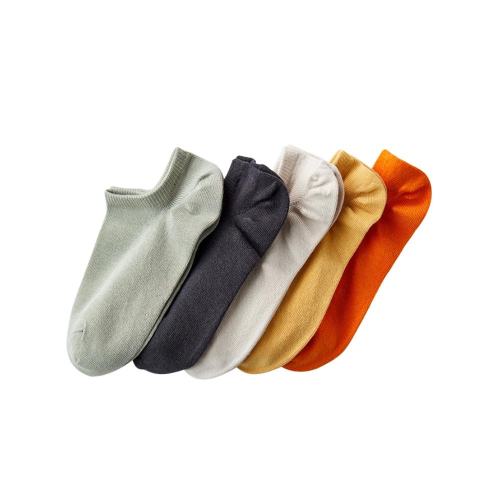 淘宝心选 男女士透气棉质抗菌船袜隐形袜5双装