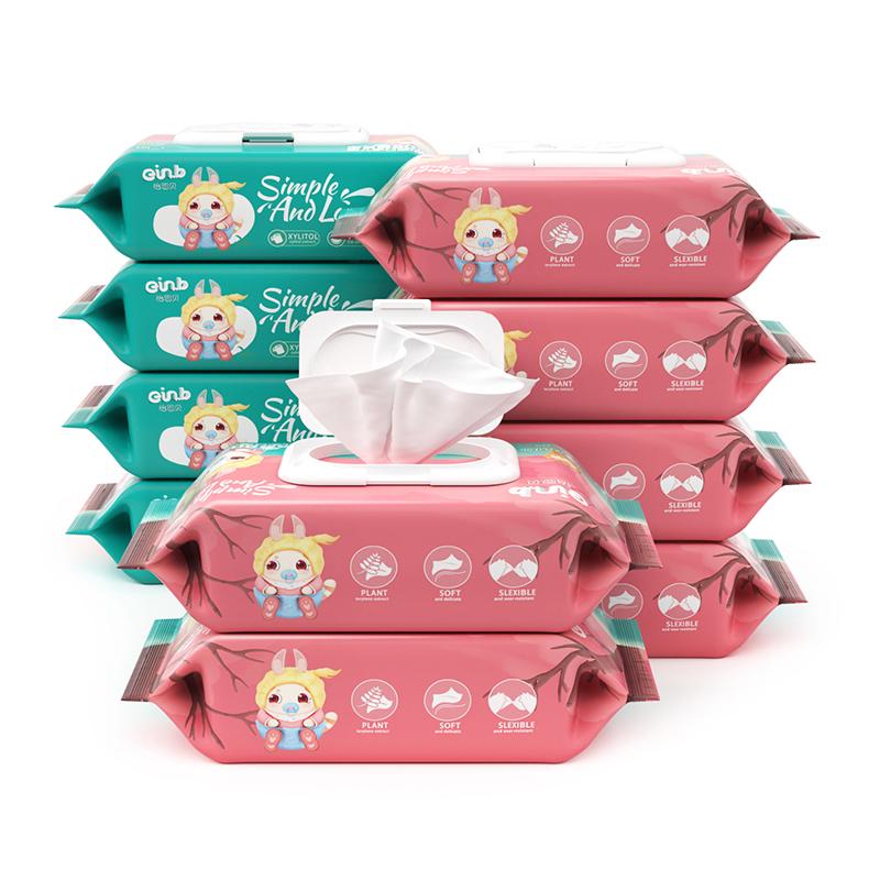 【天猫超市】婴儿湿巾80抽10包