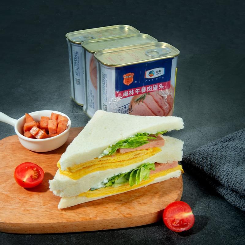 中粮梅林美味午餐肉1020g组合装营养方便速食即食泡面火锅搭档