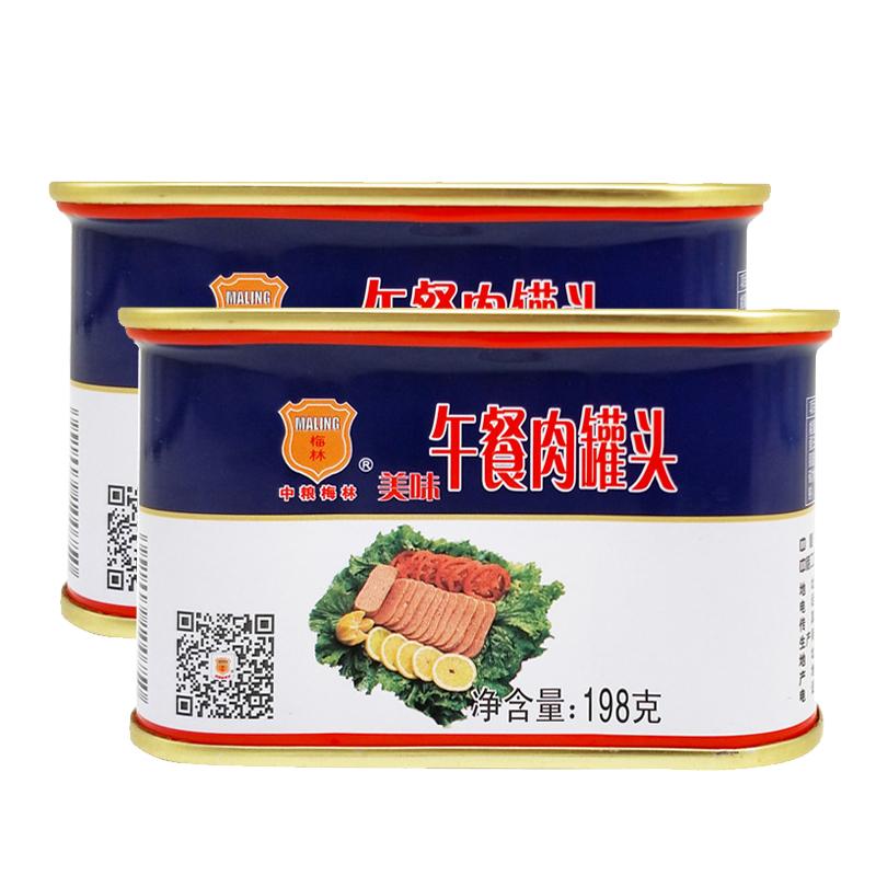 【天猫超市】中粮 午餐肉罐头198g*2罐