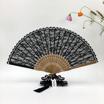 Другие вееры,  Отправить вентилятор крышка 7 дюймовый двойной кружево вентилятор классическая женский веер бамбук ремесла маленькие подарки вентилятор японский сложить вентилятор, цена 435 руб