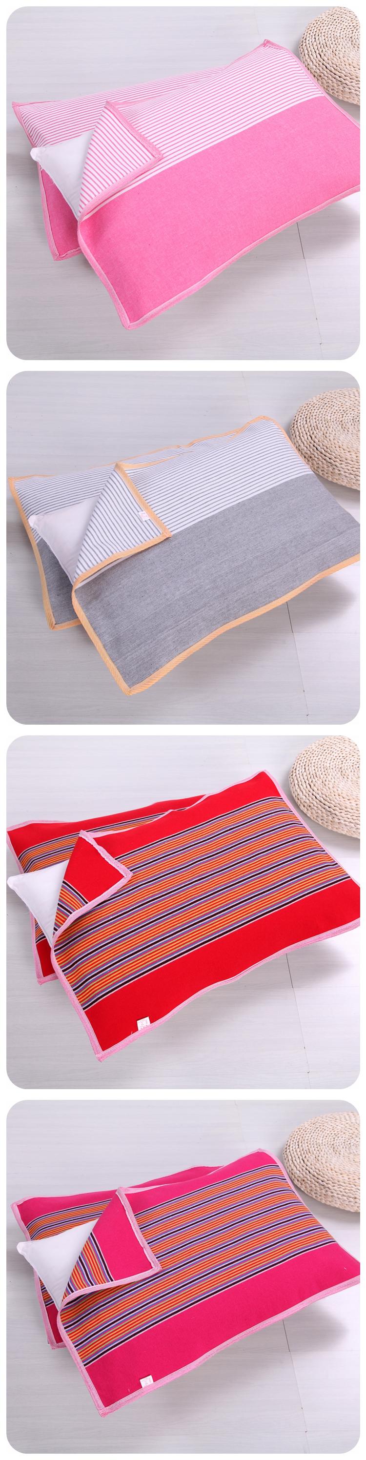 Cũ vải thô gối khăn dày mã hóa để tăng bông vải gối khăn gối khăn đặc biệt duy nhất ký túc xá sinh viên cặp
