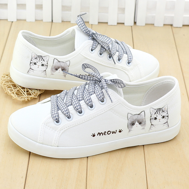 c3ba2204fb3 Spring and summer low to help canvas shoes Korean small white shoes female  2019 new flat shoes shoes shoes leather shoes
