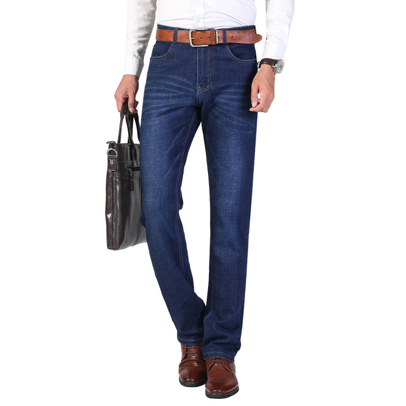 2019 Summer Men's Thin Stretch Jeans Business Fashion Loose Straight-Leg Pants Jeans
