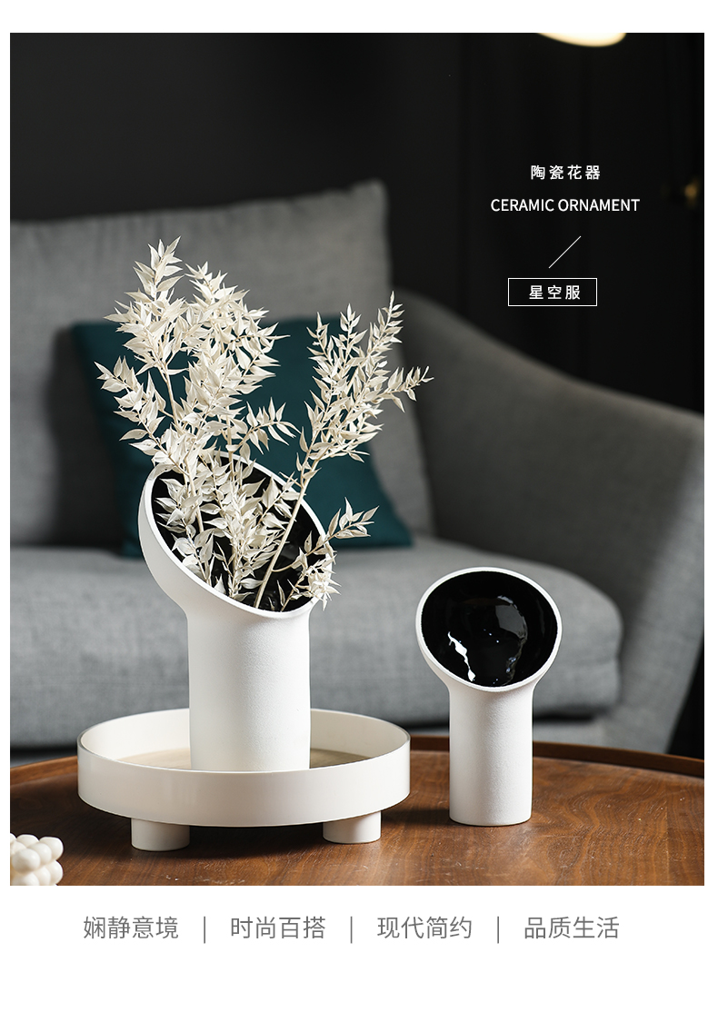Rain red star sitting room temperature ceramic vase hydroponic Nordic decorative model act the role ofing is tasted furnishing articles furnishing articles floral outraged