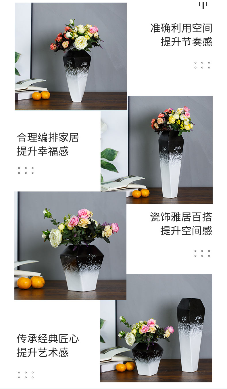New Chinese style furnishing articles ceramic vases, flower arrangement sitting room adornment light much creative contracted wind dried flower vase decoration