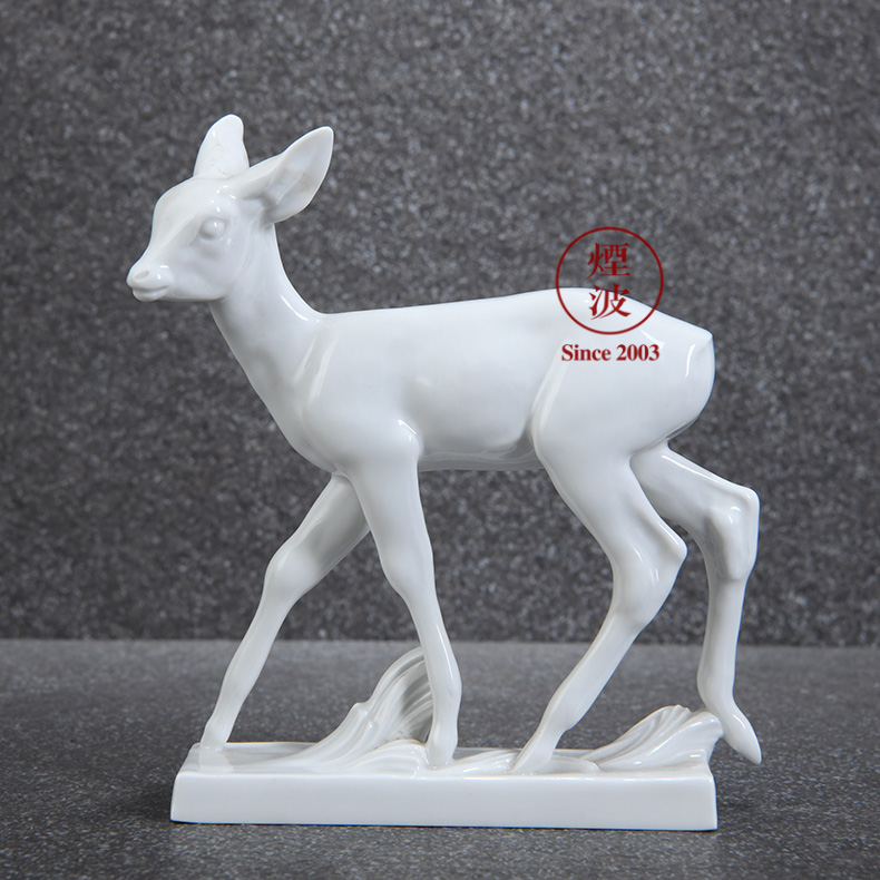 German mason mason animal meisen porcelain porcelain plastic small white deer handicraft furnishing articles that occupy the home act the role ofing is tasted