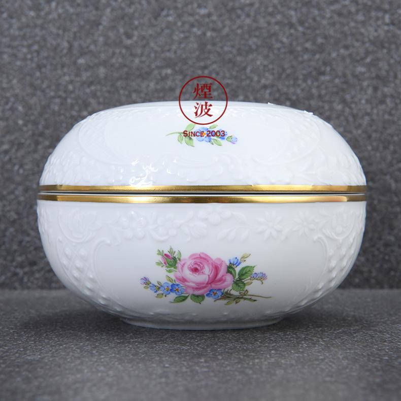 German mason mason meisen porcelain roses series powder paint boxes jewelry boxes