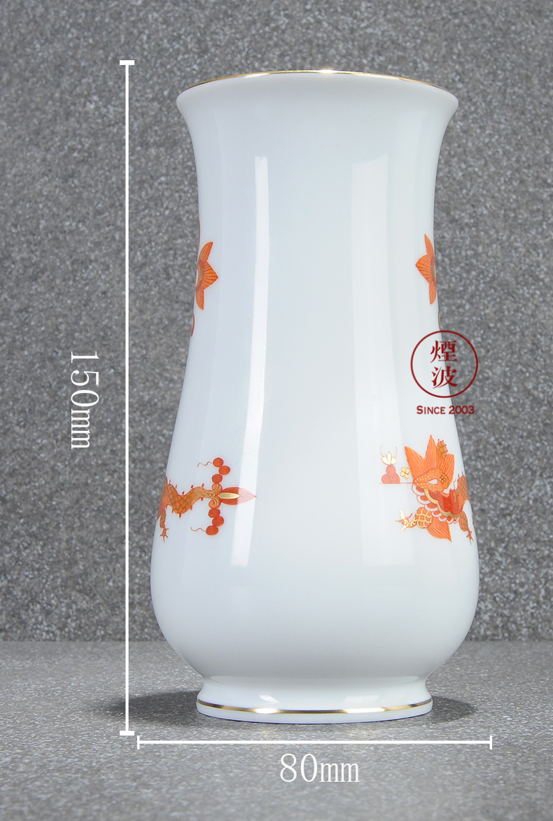 German mason MEISSEN porcelain new clipping red mesa of royal dragon vase home furnishing articles 150 mm