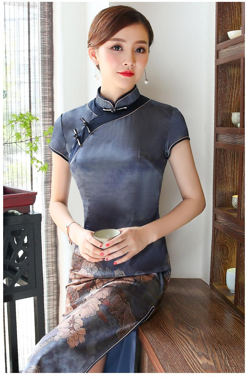 中国风格改良短袖旗袍  (歌曲:追梦*14首) - 津津的博客